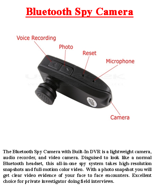 Bluetooth Spy Camera